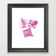 NYC Rush Framed Art Print