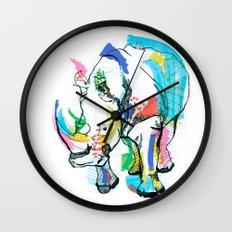 Rhino colour Wall Clock