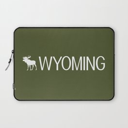 Wyoming: Moose (Mountain Green) Laptop Sleeve