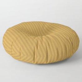Ochre + Goldenrod Stripe Floor Pillow