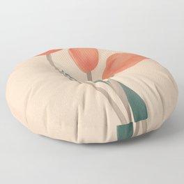 Orange Tulips Floor Pillow