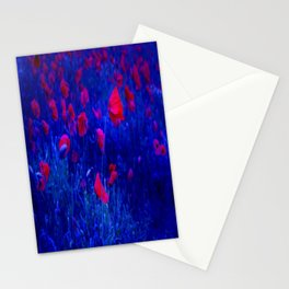 Red in Blue Stationery Cards