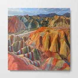 colours mountains Metal Print