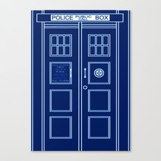 TARDIS Front Door - Doctor Who Canvas Print