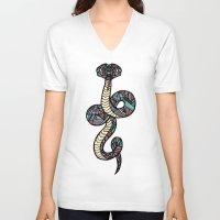 anaconda V-neck T-shirts featuring Anaconda by schillustration