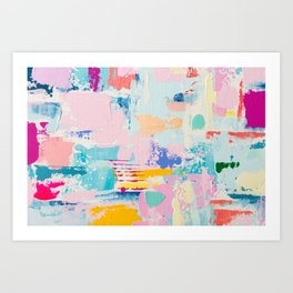 THE GOOD STUFF 3 // ABSTRACT MIXED MEDIA ON CANVAS Art Print