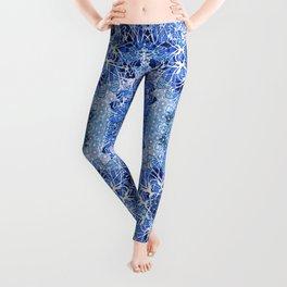 Sapphire Crochet Mandala Leggings