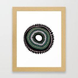 Patterned Sun Framed Art Print