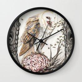 Barn Owl + The Visitors Wall Clock