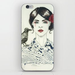 Rose's Raven iPhone Skin