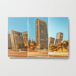 City Awakening Triptych Metal Print