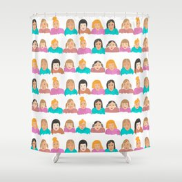 Faces in a Crowd Shower Curtain