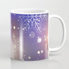 Christmas Shiny Snowflake Background Coffee Mug