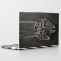millenium falcon Laptop & iPad Skins featuring Millennium Falcon by LindseyCowley