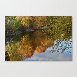 Autumn Reflection Upton Massachusetts Canvas Print