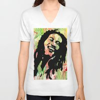 marley V-neck T-shirts featuring Marley by Katie Mont