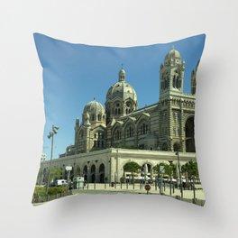 Marseille Cathedral de la Major Throw Pillow