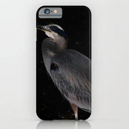 Heron at night iPhone Case