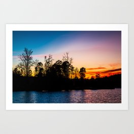 Sundown at Colonel Francis Beatty Park Art Print