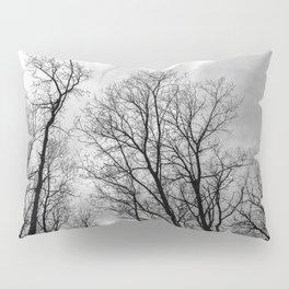 Creepy black and white trees Pillow Sham