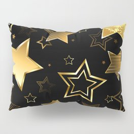 Seamless with Golden Stars Pillow Sham