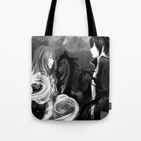 inner demons Tote Bags featuring DEMONS by eriboook