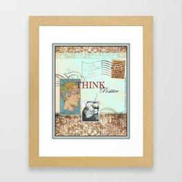 """Think Positive"" - by Fanitsa Petrou Framed Art Print"
