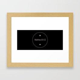 Text Framed Art Print