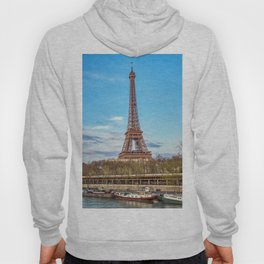 Eiffel tower and Seine river - Paris, France Hoody