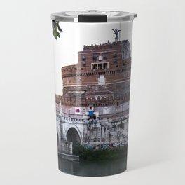 Castel Sant'Angelo and Ponte Sant'Angelo. Rome Travel Mug