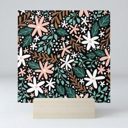 Woodland Ditsy Floral Pattern Mini Art Print