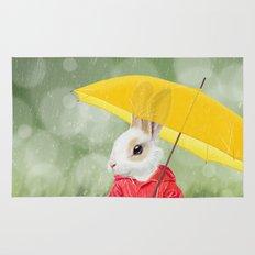 It's raining, little bunny! Rug