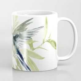 Hummingbird and Plumerias Coffee Mug