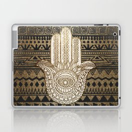 Native Pattern Golden Hamsa Hand Laptop & iPad Skin
