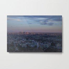 LA Skyline at Sunset Metal Print