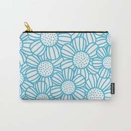 Field of daisies - teal Carry-All Pouch