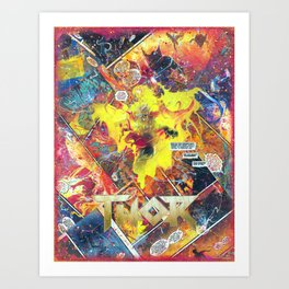 Thor Phoenix Comic Collage Superhero Comic Art Art Print