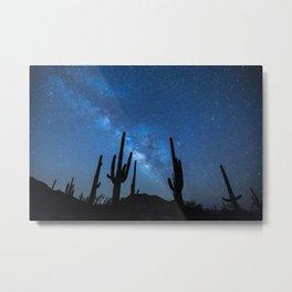 Galactic Cacti Metal Print