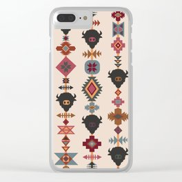 American Prairie Ethnic Tribal Seamless Pattern Clear iPhone Case