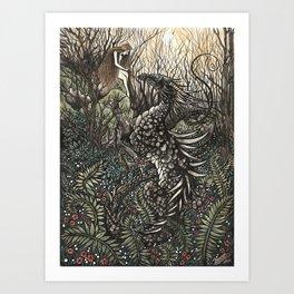 Dragon Noir Art Print