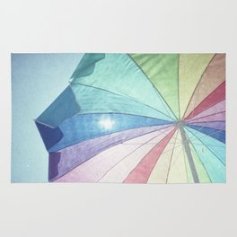 Colorful Beach Umbrella Rug