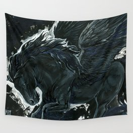 Dark Pegasus Wall Tapestry