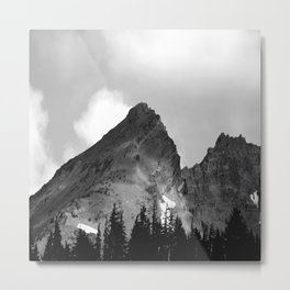Broken Topped in Black and White Metal Print