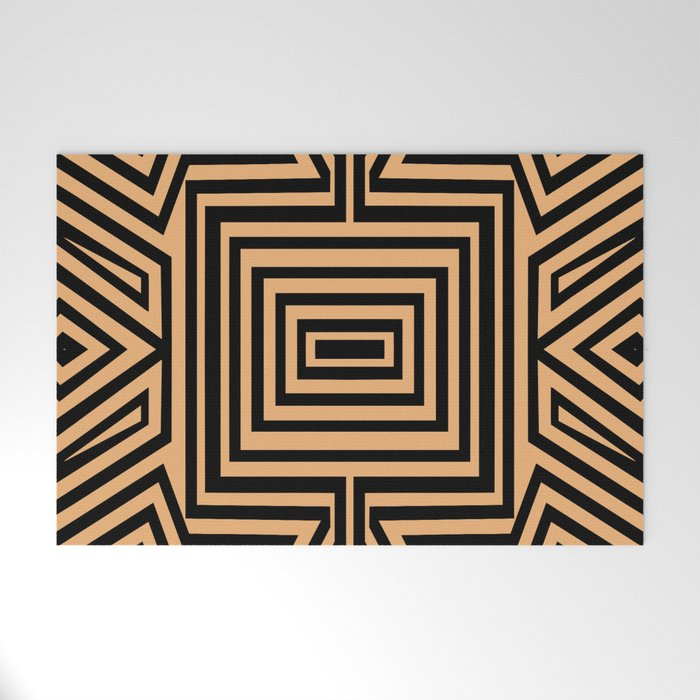 African Geometric Tribal Pattern 2 Welcome Mat