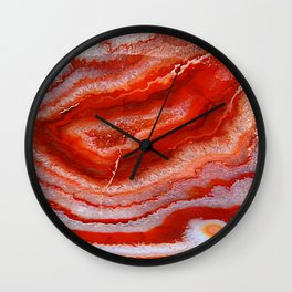 Red Agate Wall Clock