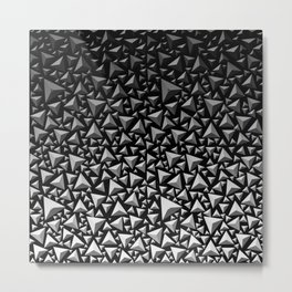 Spiky Triangles 2 Metal Print