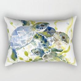 Baby Sea Turtles Rectangular Pillow