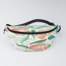 Watercolor Peaches Fanny Pack