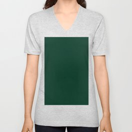Deep Green Unisex V-Neck