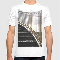 Staircase to Heaven Mens Fitted Tee White MEDIUM